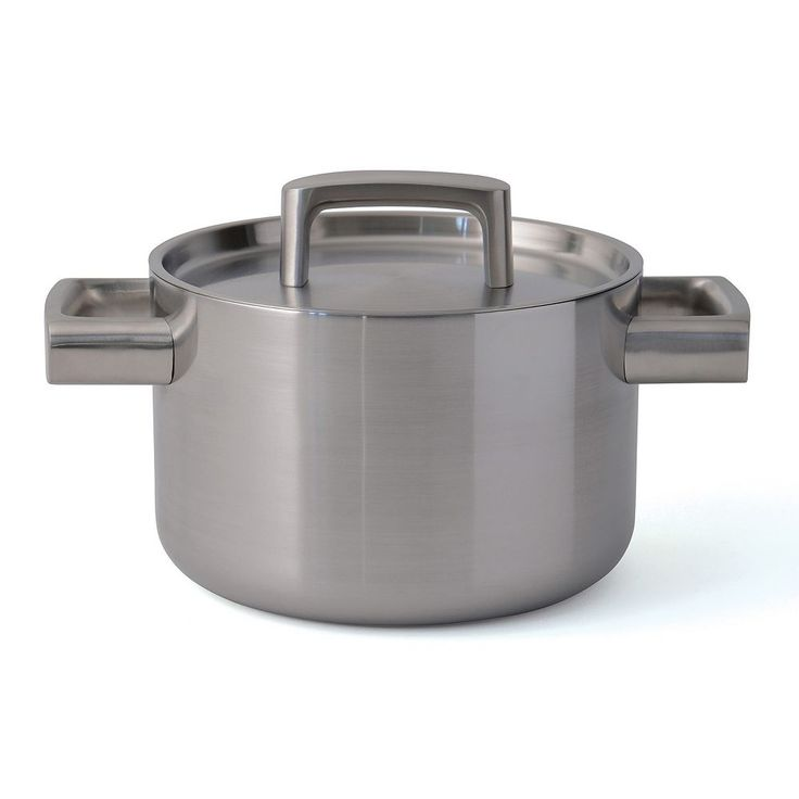 BergHOFF Ron Covered Casserole Pan, Silver