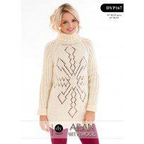Ladies Snowflake Jumper in DY Choice Aran with Wool (DYP167) Digital Version
