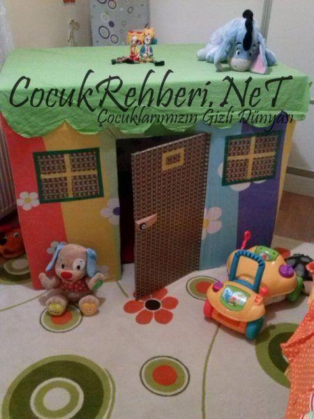Karton Kutudan Oyun Evi Yapımı (2)