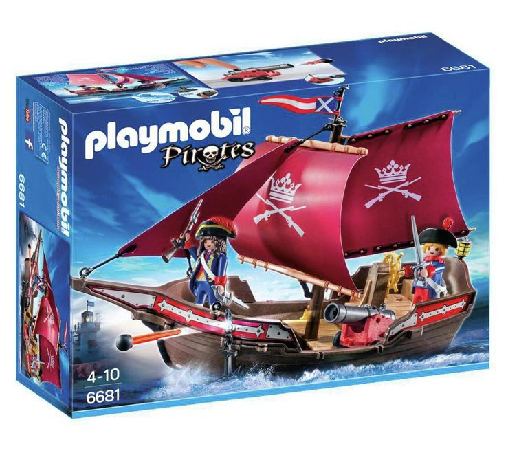 Buy Playmobil 6681 Pirates Soldier's Patrol Boat at Argos.co.uk, visit Argos.co.uk to shop online for Action figures and playsets, Toys