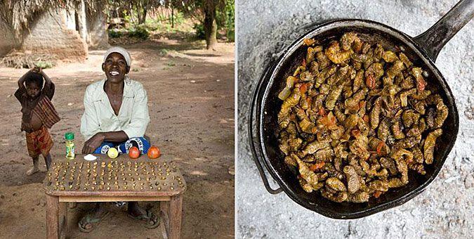 Φωτο-ταξίδι γεύσεων σε όλο τον κόσμο με σεφ... γιαγιάδες!  Μαλάουι, Finkubala (Κάμπιες σε σάλτσα ντομάτας)