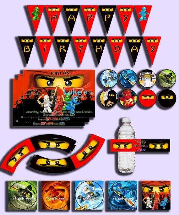 A Lego Ninjago Birthday Party: Ninjago Printable Birthday Party Kit