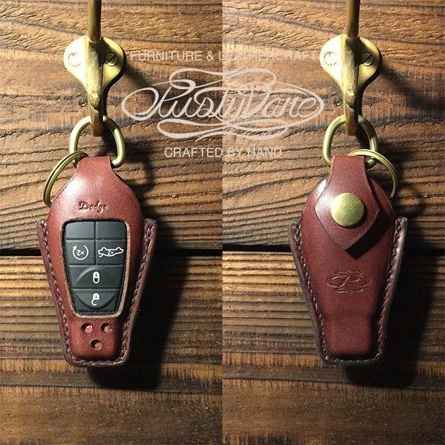 Keyless Entry Jacket for DODGE #001 - Dark Brownの画像4枚目