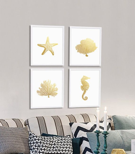 Gold Starfish Wall Decor : Best ideas about starfish art on