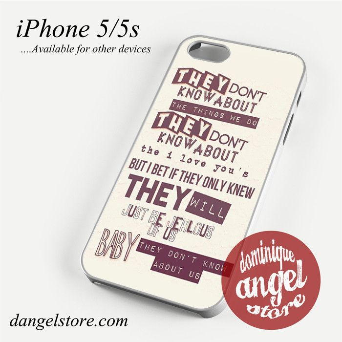 One direction they don't know about us Phone case for iPhone 4/4s/5/5c/5s/6/6 plus
