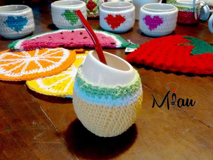 Mates con onda!! #matetejido, #crochet, #miau. Consultas: anaramirez131@gmail.com