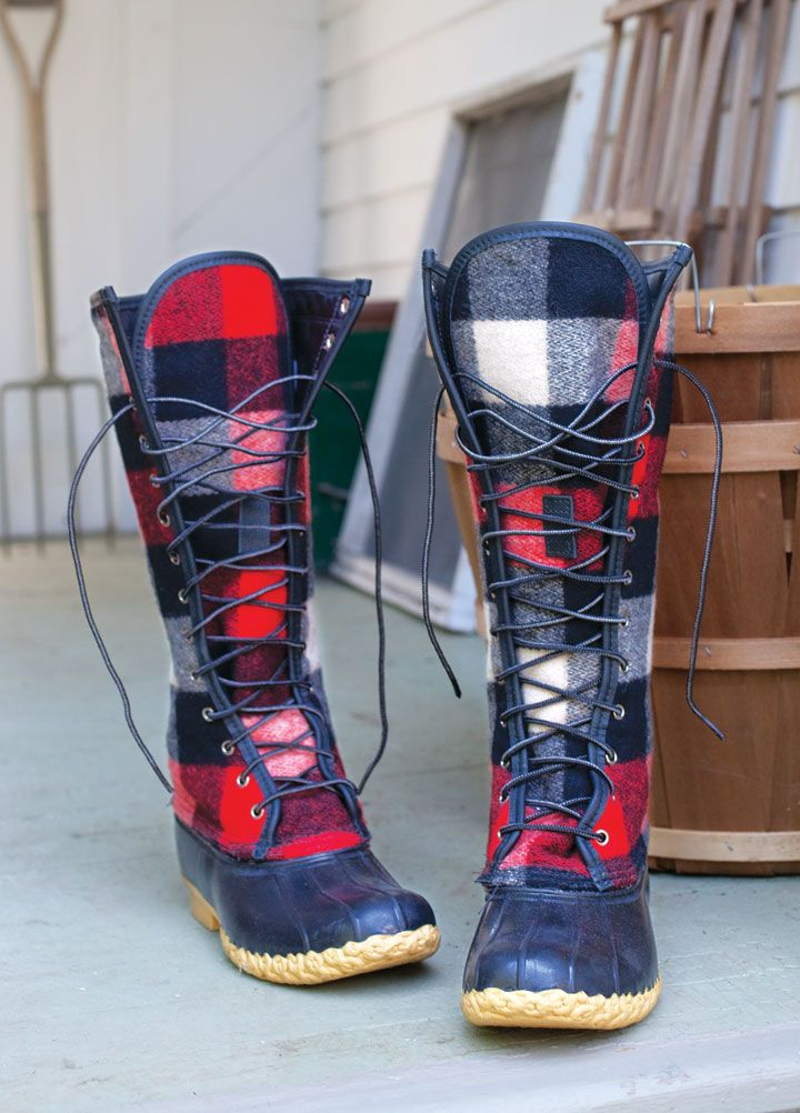 """Cheap, they're not. Rugged, roasty-toasty warm, and incredibly fashion-forward? Yup. These new kicks from L.L. Bean's Signature line update Leon Leonwood Bean's iconic 1912 """"bean boot."""""""