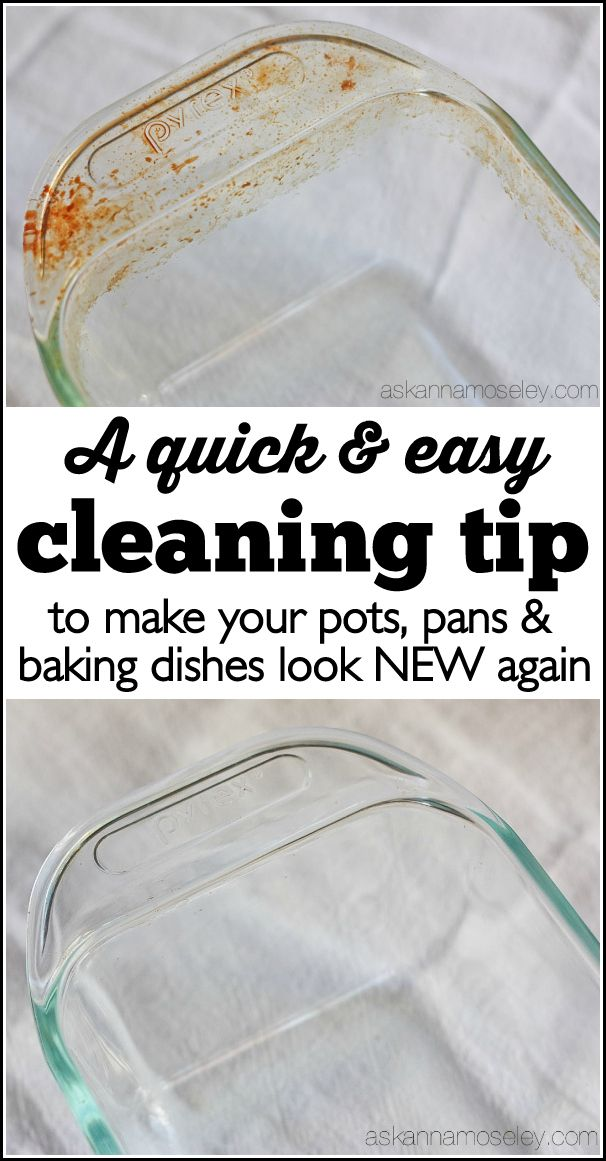 This is a really simple tip for how to clean baked-on grease off pots, pans & baking dishes. You will be AMAZED at how easy it is to get tough grease off with just a sponge and a little dish soap.