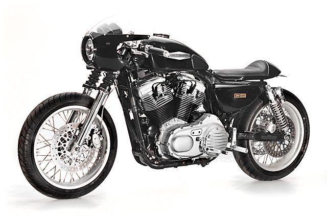 "Harley-Davidson XL883 Sportster Custom 2015 by Greg Hageman from Doc's Chop | Engine bored to 1200cc | Hagon Nitro rear suspension w/ piggy back | 18"" wheels | EMD rocker & primary covers | Motogadget turn signals | Photography by Erick Runyon | via pipeburn.com"