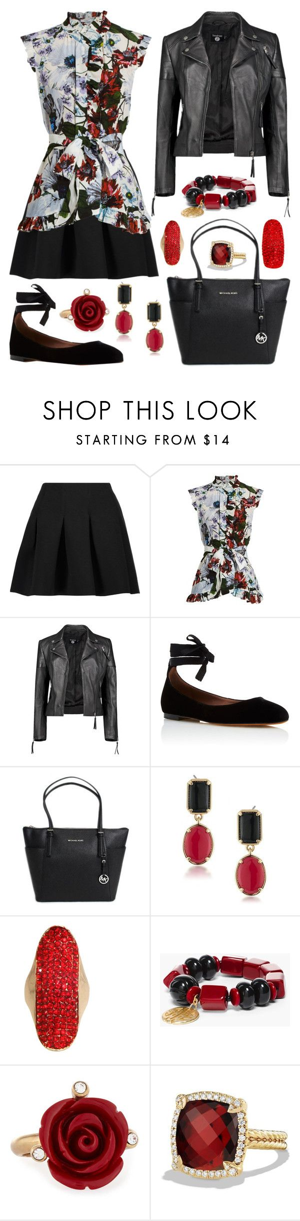 """""""So Confused with My Life"""" by staysaneinsideinsanity ❤ liked on Polyvore featuring T By Alexander Wang, Erdem, Boohoo, Tabitha Simmons, 1st & Gorgeous by Carolee, Chico's, Oscar de la Renta and David Yurman"""