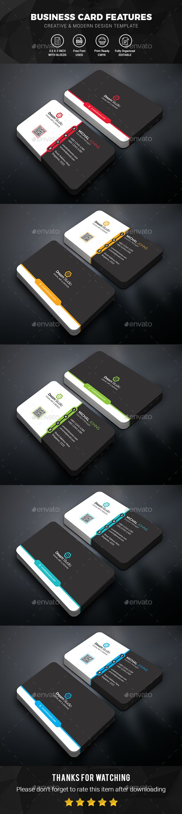 #Business #Card - Business Cards Print Templates