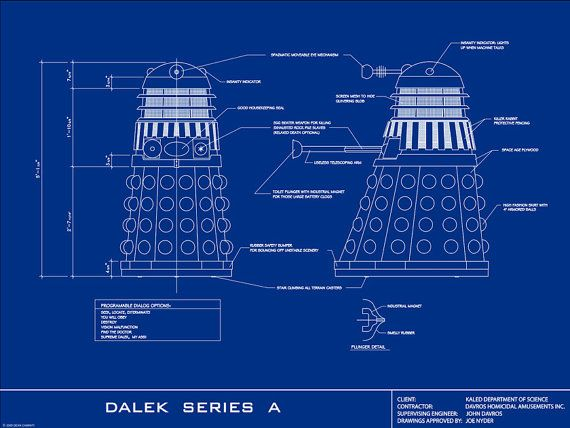 Dalek Blueprint This Would Be An Awesome Poster For One