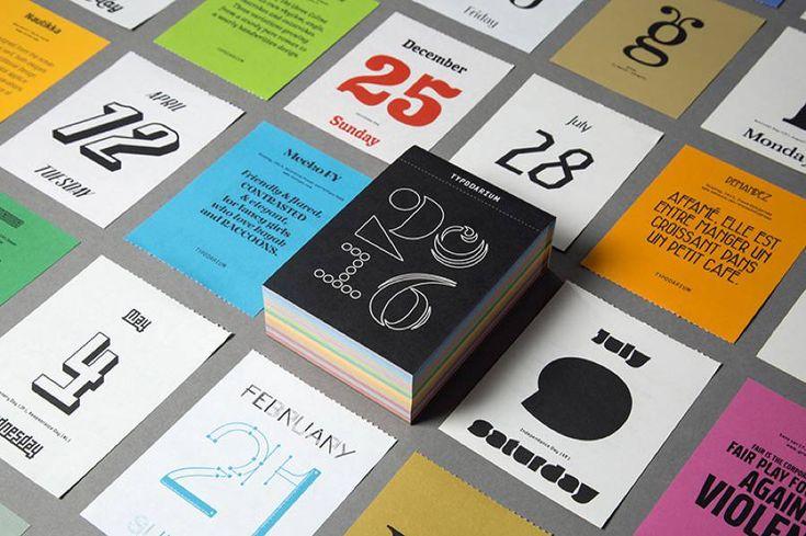 A 366 Day Type Calendar 2016 – Fubiz Media