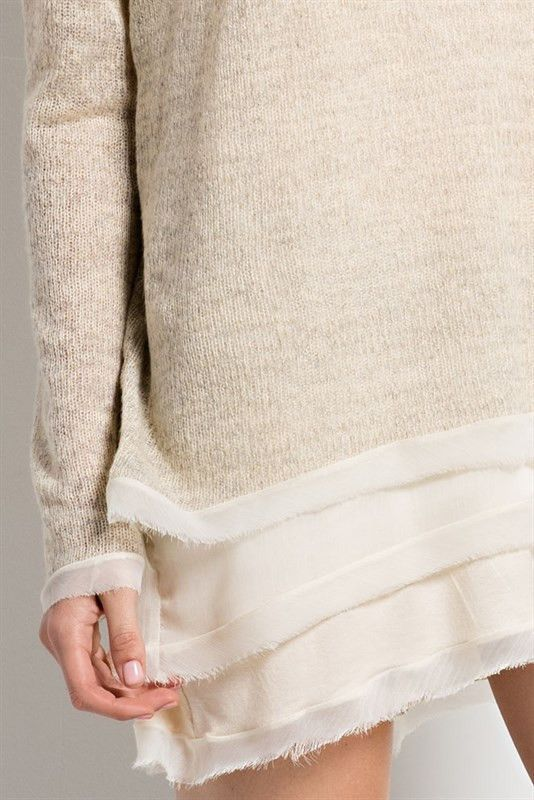 Layers of chiffon sweater