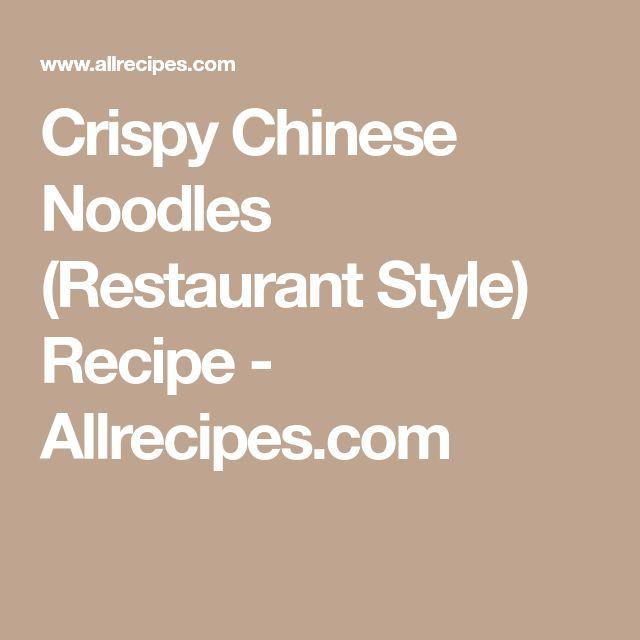 Crispy Chinese Noodles (Restaurant Style) Recipe - Allrecipes.com