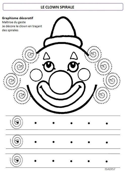 Sur le thème du cirque, la spirale