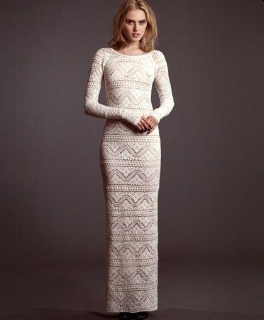 Crochet Rose Gown - wedding dress?