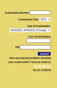 WAEC GCE Result (November/December) 2013 is Out – Check Here!!!