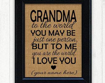 Grandmother Gift, Unique Gift Idea, Grandma Birthday Gift, Grandmother Birthday Gift, Gift Ideas for Grandmother