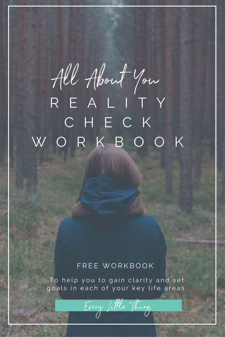 Free Reality Check workbook to help you gain clarity on how you feel about each of your key life areas and start setting goals for change.
