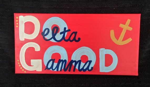Do Good Delta Gamma Canvas $20