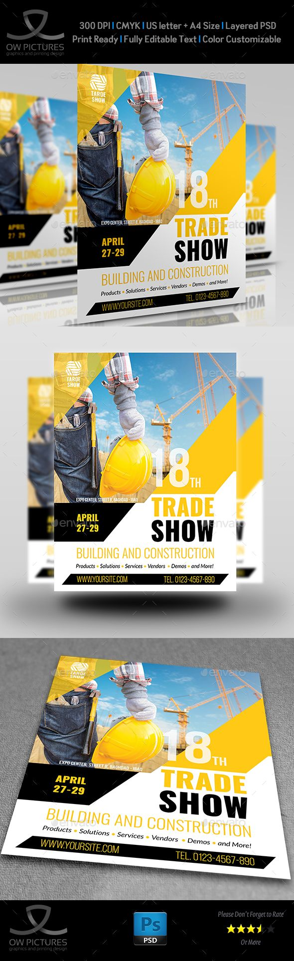Color booth online - Trade Show Flyer Template