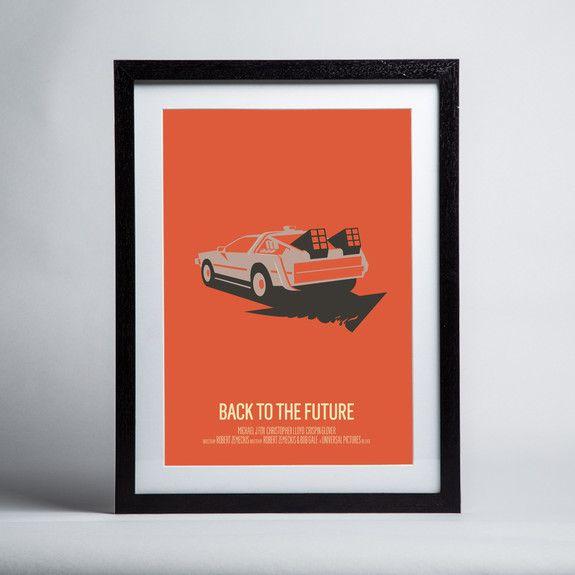 Bruno Morphet - Back To The Future - Framed print