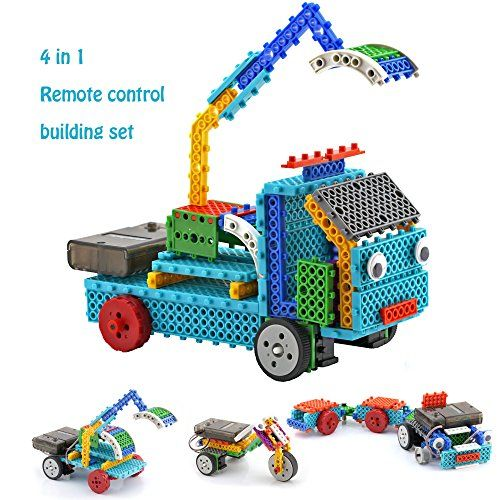 Remote Control Building Kits for Kids - STEM RC Machines Construction Set w/ 127PCS Building Blocks Build Robot Kit for Kids Your Own Remote Control Car - This Remote Control Building Kit is perfect for enhancing kids' creativity and improving their hands-on ability. If you are looking for some gift for kids, this could be the best option for you. Children would love this remote control building toy, because it can be DIY and assembled to many kind...