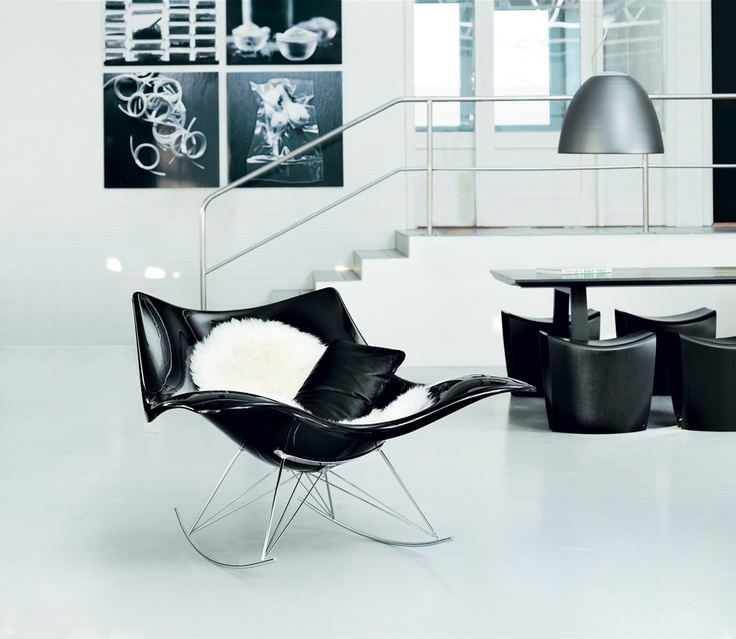 Stingray Rocking Chair from Fredericia Furniture. #Design by Thomas Pedersen.