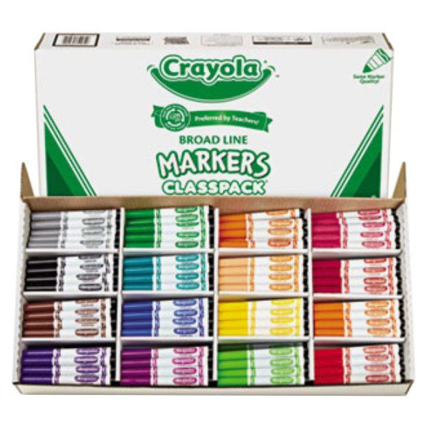 Crayola 588201 Classpack 256 Assorted Broad Point Markers