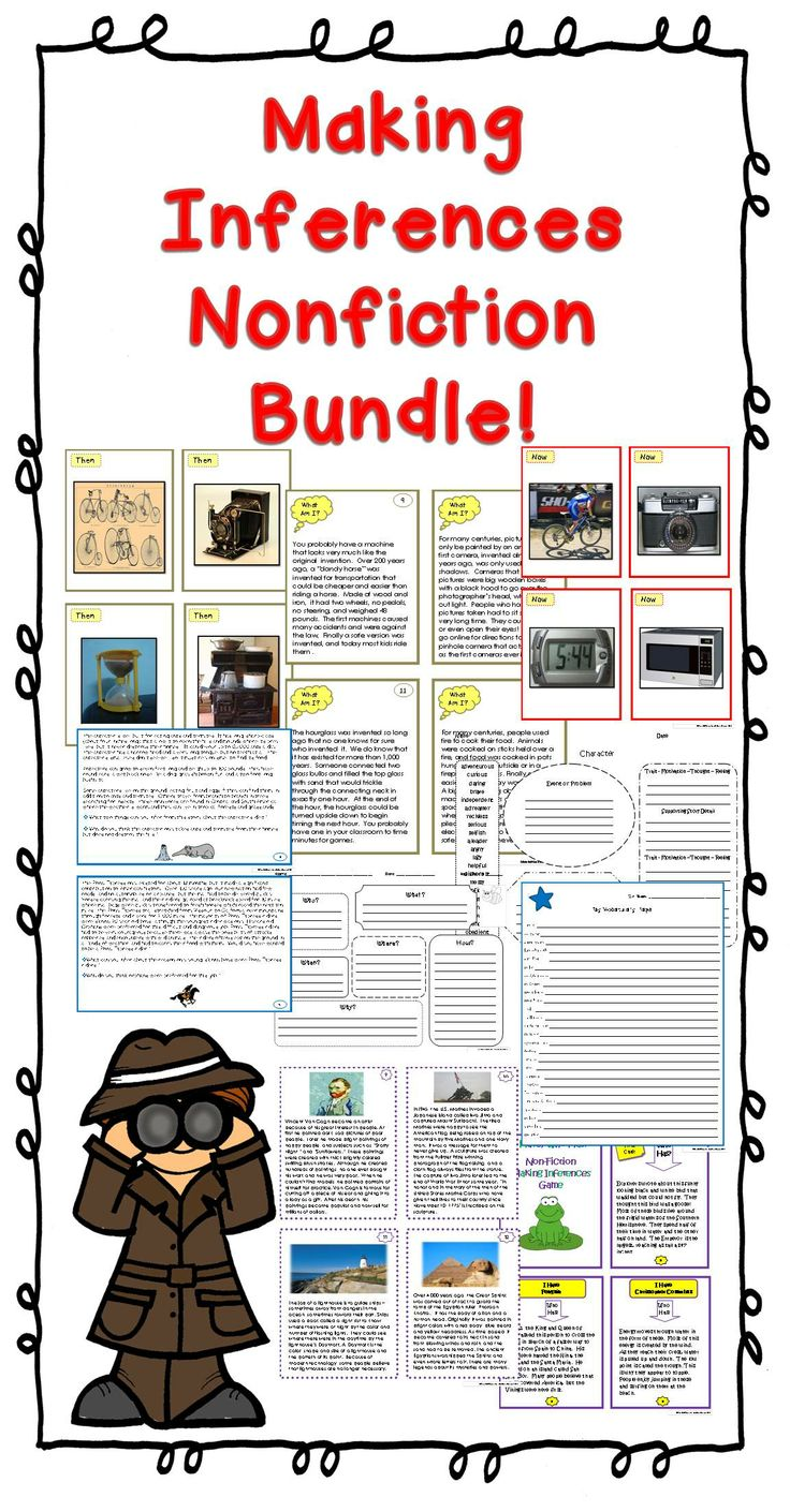 Workbooks making inference worksheets : 135 best VAAP activities and worksheets images on Pinterest ...