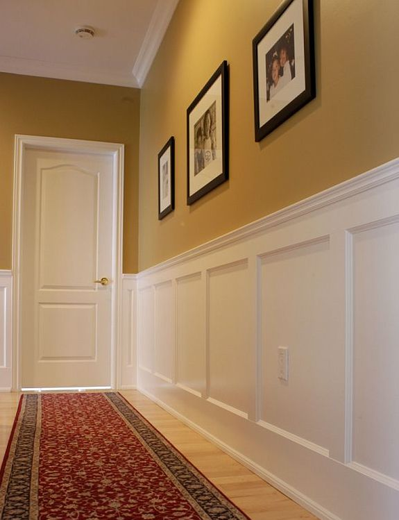 12 best faux wainscoting diy images on pinterest home for Hallway bathroom ideas