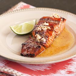 Honey Chipotle Lime Grilled Salmon - bursting with flavor- YUM!