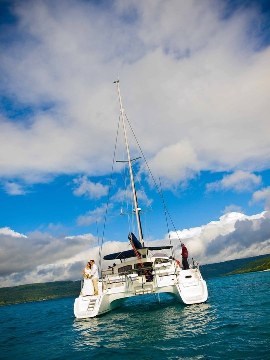 Get married on board a luxury yacht in the South Pacific island of Vanuatu!
