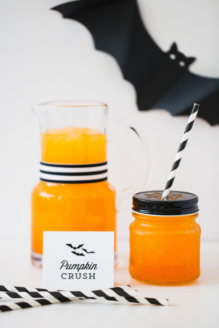 5 Kid-Friendly Halloween Drinks - Pumpkin Crush | The TomKat Studio for DIY Network