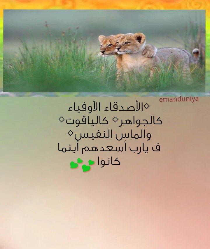 الأصدقاء الأوفياء ..: Arabic Messages, Messages From, الأصدقاء الأوفياء