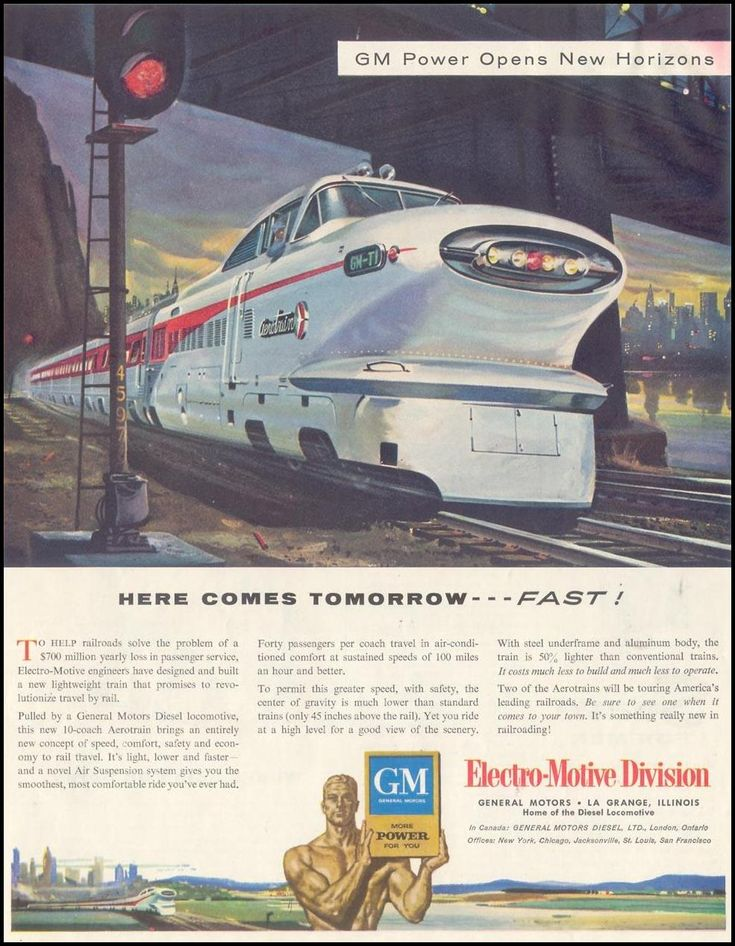 General Motors Diesel Locomotives Saturday Evening Post 12 10 1955 P 89 The Transportation