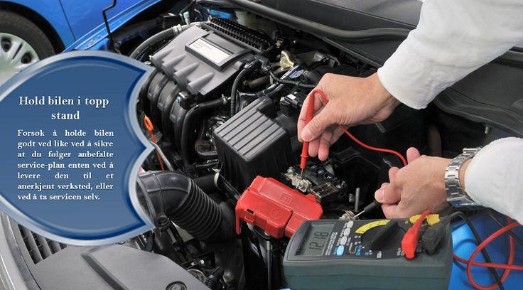 Få utført service på bilen din regelmessig Vær sikker på at du regelmessig får utført service på bilen – Få en vane med å bytte luft-filteret, drivstoffilteret og tennpluggene. #vinterdekk