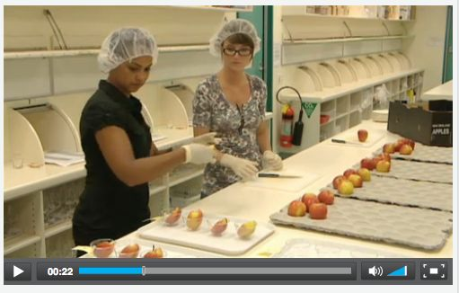 VIDEO: Designing a sensory trial for apples -   Sensory trials of new apple varieties are carefully planned by the sensory team at Plant & Food Research (PFR) to ensure valid and reliable feedback from consumers. Christina Bava of PFR explains important aspects of designing a sensory trial.
