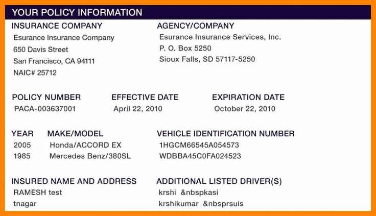 Fake Insurance Card Template in 2020 | Card template, Card ...