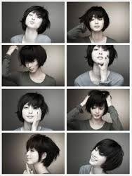 Resultado de imagem para modelo de penteado asiatico