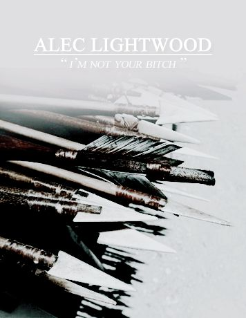 """mrsblackstairs: """""""" The Mortal Instruments main characters posters. // Alec"""