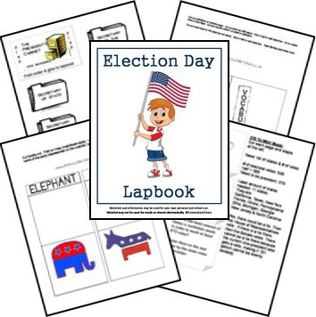 Elections Unit Study Lesson Plan and Lapbook Printables FREE