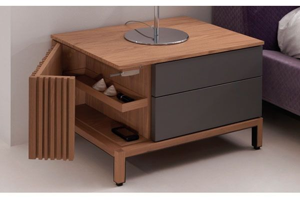 The Slatted Nightstand is a beautiful, modern piece of furniture, crafted with storage options to suit a busy lifestyle.