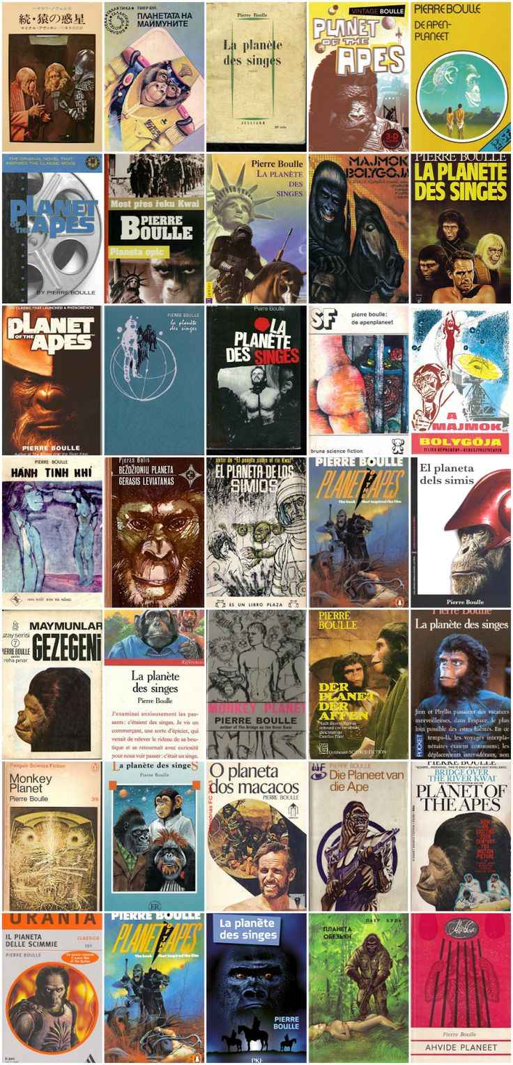 Archives Of The Apes: The Apes In Print: various international editions of the Pierre Boulle original