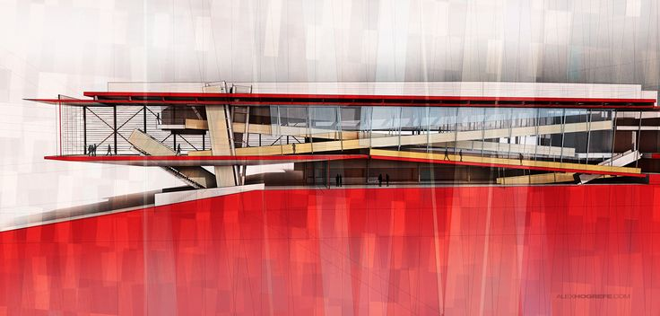 Cranbrook Building Section | Visualizing Architecture