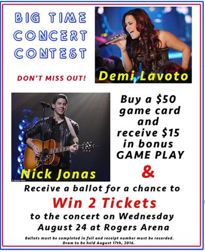 Concert Contest - #DemiLavoto and #NickJonas tickets - win two tickets #WOW - The Great Escape in #Langley #BC - #WhiteRock #SurreyBC #Aldergrove #Abbotsford #DeltaBC #Vancouver