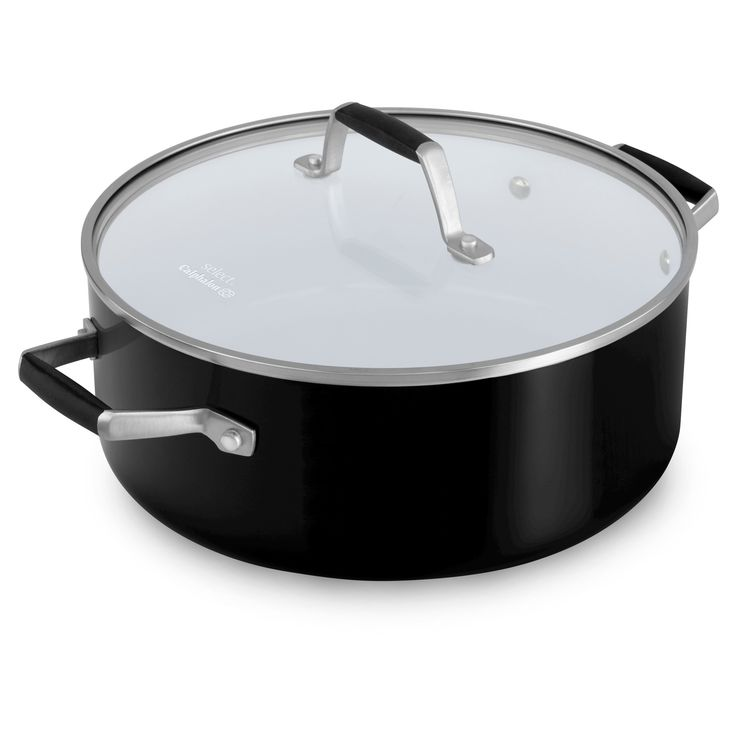 Select by Calphalon 5 Quart Ceramic Non-stick Dutch Oven, Black