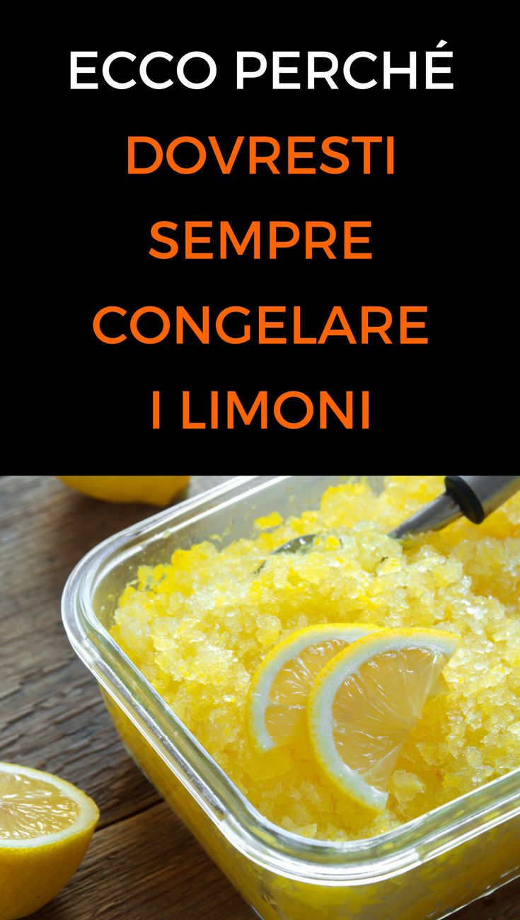 #congelarelimoni #rimedinaturali #salute #animanaturale