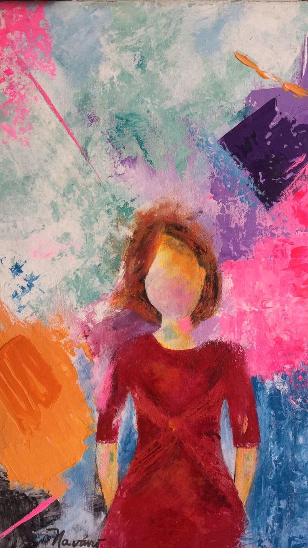 Carmen Alicia Navarro  Madre dinámica  Acrilico sobre lienzo
